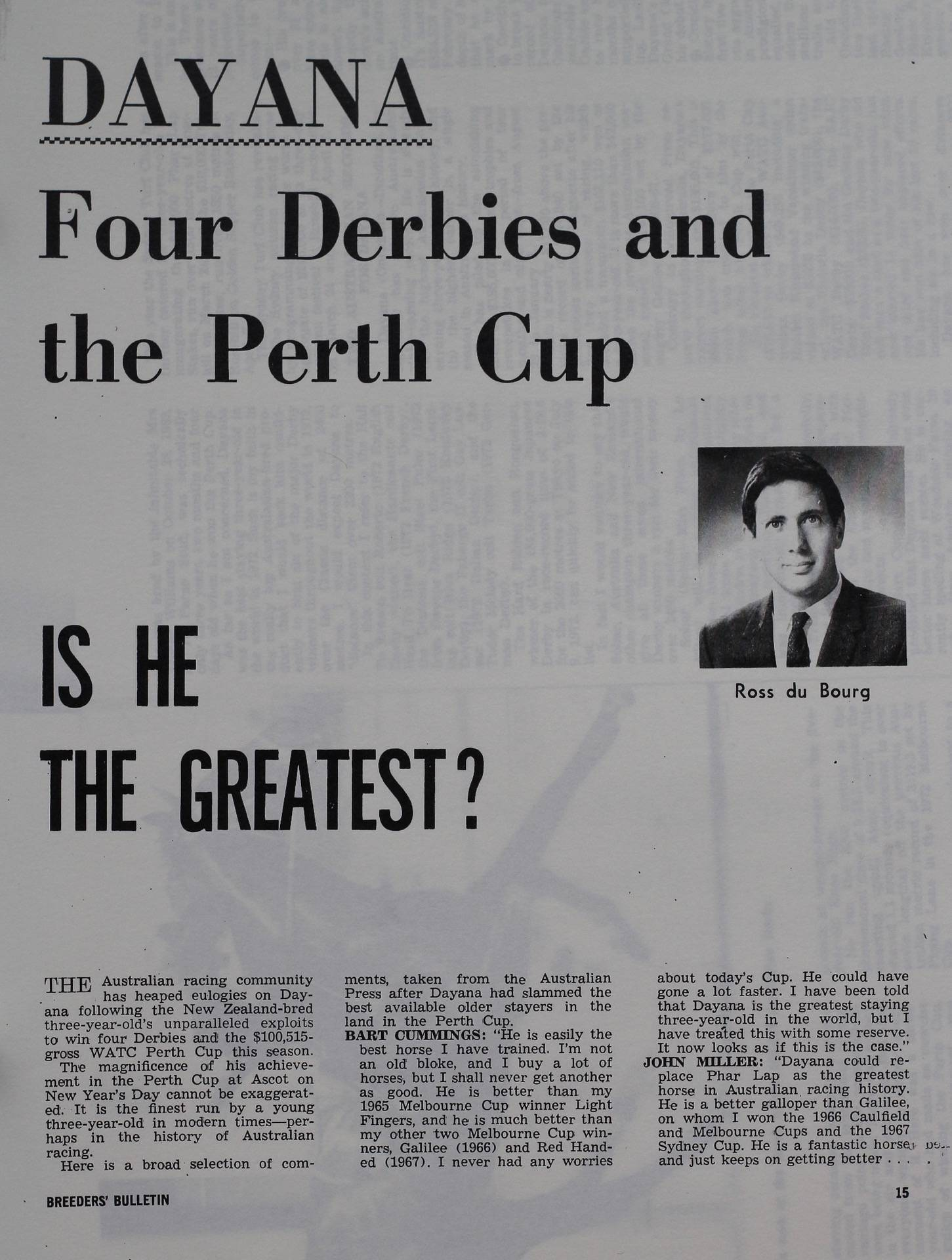 Dayana - Four derbies and the Perth cup